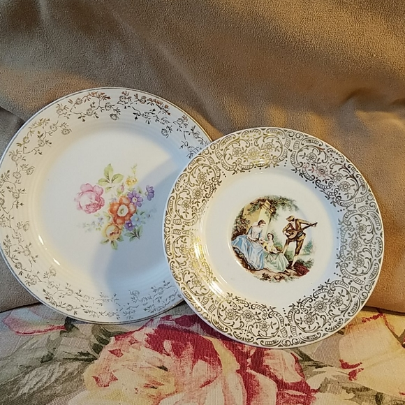 Triumphs Gold Rimmed Plate and Saucer